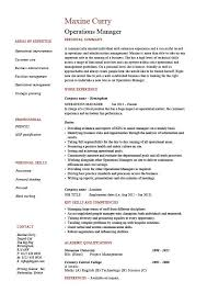 plant manager resume operations manager resume description exle template