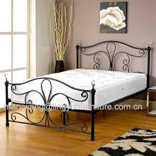 new white metal bedframe bed frame super king size 180x200 cm incl