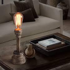 mini lamp post antique edison steel pipe lamp st64 bulb