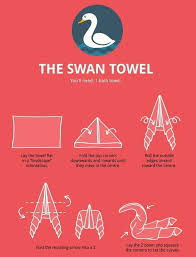 towel swan christmas pinterest swans towels and towel animals