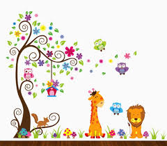 amazon com animal alphabet baby nursery peel andstick wall art dekosh kids jungle theme peel and stick wall decal colorful owl giraffe lion tree decorative