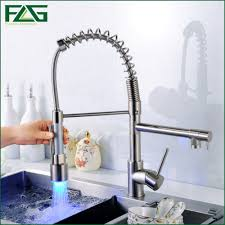 cucina kitchen faucets flg sale chrome brass spring kitchen faucet single handle hole