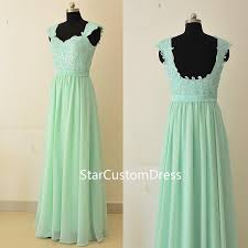 mint green bridesmaid dress mint lace bridesmaid dress a line with cap sleeves chiffon