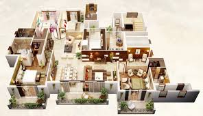 layout of house 4 bedroom apartment house plans