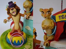 madagascar circus themed cake cupcakes cakecentral
