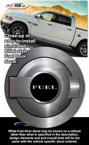 dodge challenger fuel dodge challenger simulated billet style fuel door decal 2