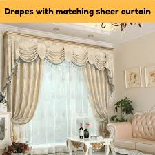 Swag Valances For Windows Designs Beigeivorycream Swag Drape Sheer Fabric Eyelet Pleat Valance 1 2