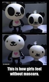 Panda Meme Mascara - sans mascara meme subido por adxadn memedroid