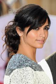 ladies hair styles with swept over fringe easy black updo with side swept bangs for long hair from camila