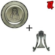 personalized pewter plate engraved pewter plate with portrait etain des vieux moulins