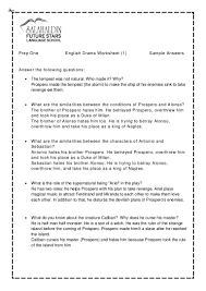 How To Make Worksheets Drama The Tempest Worksheet 1