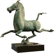 gansu flying heavenly horse chinese bronze sculpture reproduction