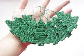 ornament crochet decorations tree cotton