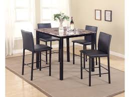 Five Piece Dining Room Sets Crown Mark Aiden 5 Piece Counter Height Dinette Set With Faux