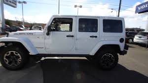 jeep willys white 2016 jeep wrangler unlimited rubicon white gl180019 mt