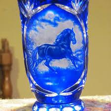 Cobalt Blue Crystal Vase Best Bohemian Glass Vases Products On Wanelo