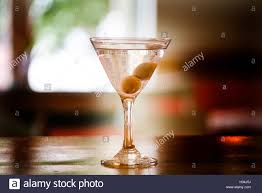 martini dry a martini dry coctail with two olives stock photo royalty free