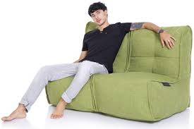 twin couch bean bags sofa unzips to 2 chairs singapore