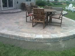 Lowes Patio Pavers by Paver Patio Ideas With Longue Chair Also A Black Square Table