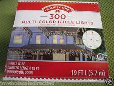 time 300 multi color icicle lights string light
