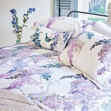 wisteria falls oxford pillowcase by sanderson wallpaper direct