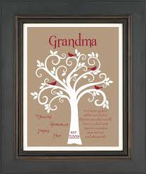 gift family tree personalized gift for grandmother