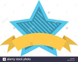 blue and yellow ribbon blue shield with stripes and yellow ribbon vector
