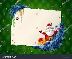 paper christmas list santa claus gift stock vector 323541989