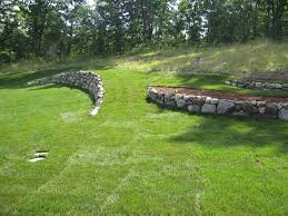 retaining wall ideas for sloped front yard modern landscaping
