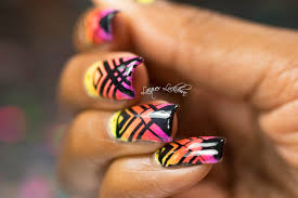 lacquer lockdown moyou london triangle grid placement neon nail