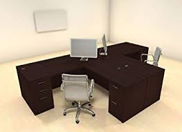 Modern Desk Set Two Persons Modern Executive Office Workstation Desk