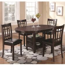 coaster 102671 102672 lavon 5 pc dining table chairs set in