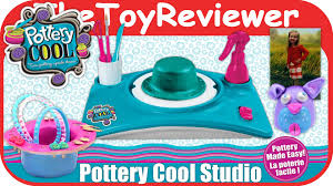 pottery cool studio clay wheel spin master unboxing toy review by