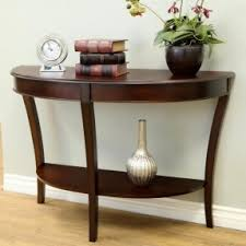 half round console table rounded console table kate and laurel lillian wood half moon