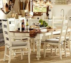 Pottery Barn Dining Room Tables Great Table Keaton Extending Dining Table French White
