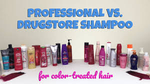 professional vs drugstore the best shoo for color treated