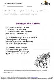 homophone horror skills workshop