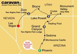 map las vegas and grand grand tours to las vegas by caravan