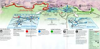 Grand Canyon Maps Grand Canyon Shuttle Bus Route Map High Quality Maps Of Grand