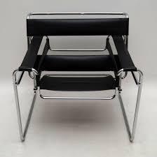leather u0026 chrome wassily chair by marcel breuer retrospective