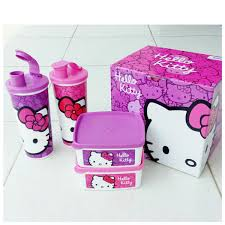 diskusi produk tupperware kitty breaktime 2 pcs kotak