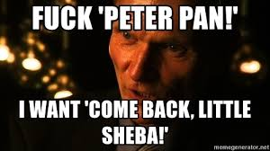 I Want To Fuck Meme - fuck peter pan i want come back little sheba crazy casper