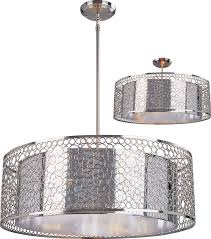 z lite 185 26 saatchi modern chrome 26 nbsp wide drum hanging light fixture loading zoom