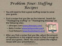 thanksgiving dinner dilemma