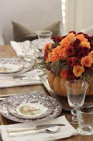 Thanksgiving Table Setting by Jenny Steffens Hobick Thanksgiving Table Setting Diy Flower