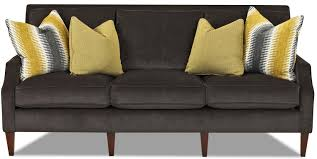 contemporary three seat sofa with slim track arms by klaussner