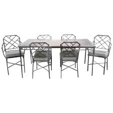 Bamboo Dining Room Chairs Brown Jordan Seven Piece Calcutta Faux Bamboo Patio Set Of Dining