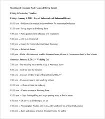 wedding reception itinerary great wedding reception itinerary template ideas exle resume