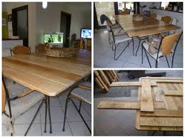 my new dining room pallet table ma nouvelle table de salle a