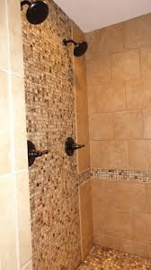 Glass Bathroom Tile Ideas by Mosaic Accent Tile Shower Background Wall Decoration Double Shower